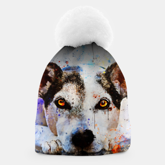 Thumbnail image of lying dog close-up view wsstd Beanie, Live Heroes