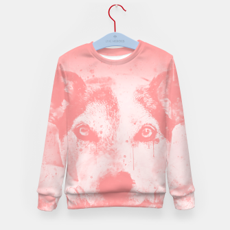 Thumbnail image of lying dog close-up view wspw Kid's sweater, Live Heroes