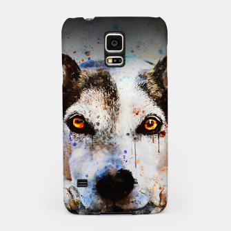 Thumbnail image of lying dog close-up view wsstd Samsung Case, Live Heroes