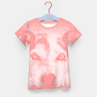Thumbnail image of lying dog close-up view wspw Kid's t-shirt, Live Heroes