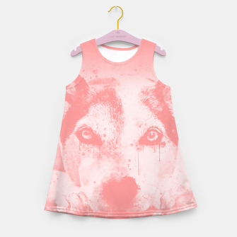Thumbnail image of lying dog close-up view wspw Girl's summer dress, Live Heroes