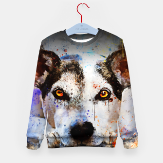 Thumbnail image of lying dog close-up view wsstd Kid's sweater, Live Heroes