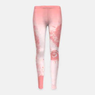 Thumbnail image of lying dog close-up view wspw Girl's leggings, Live Heroes