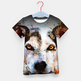 Thumbnail image of lying dog close-up view wsstd Kid's t-shirt, Live Heroes