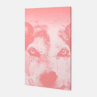 Thumbnail image of lying dog close-up view wspw Canvas, Live Heroes