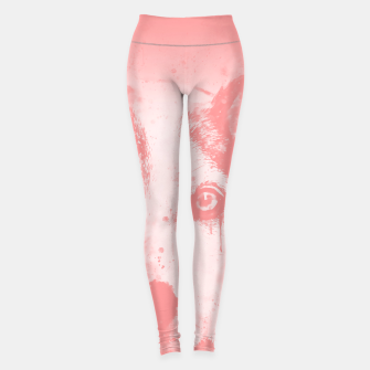 Thumbnail image of lying dog close-up view wspw Leggings, Live Heroes