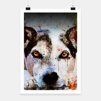 Thumbnail image of lying dog close-up view wsstd Poster, Live Heroes