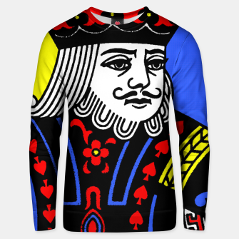 KING OF SPADES COLOURS Unisex sweater Bild der Miniatur