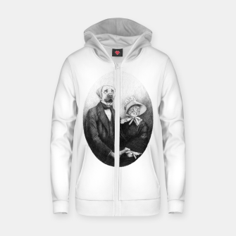 Miniatur Eternal Couple Zip up hoodie, Live Heroes