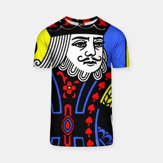 KING OF SPADES COLOURS T-shirt Bild der Miniatur