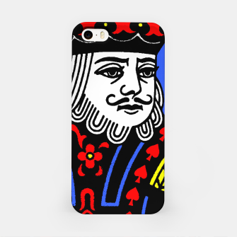 KING OF SPADES COLOURS iPhone Case Bild der Miniatur