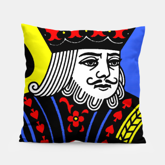KING OF SPADES COLOURS Pillow Bild der Miniatur