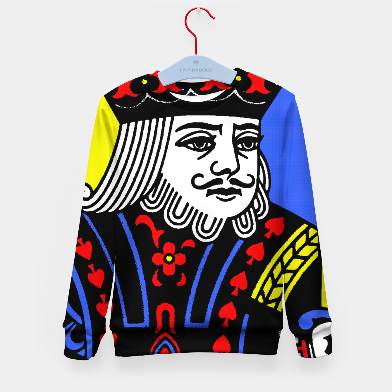 Foto KING OF SPADES COLOURS Kid's sweater - Live Heroes