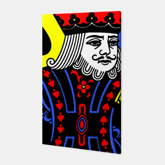 KING OF SPADES COLOURS Canvas Bild der Miniatur