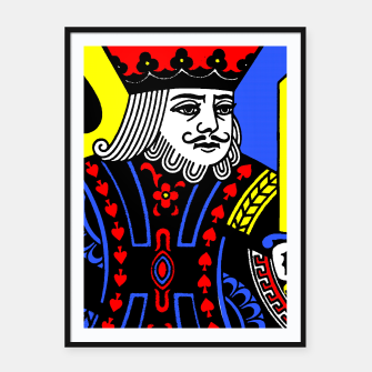 KING OF SPADES COLOURS Framed poster Bild der Miniatur