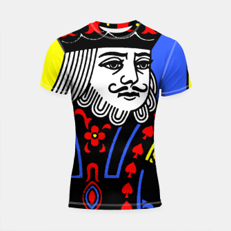 Miniatur KING OF SPADES COLOURS Shortsleeve rashguard, Live Heroes