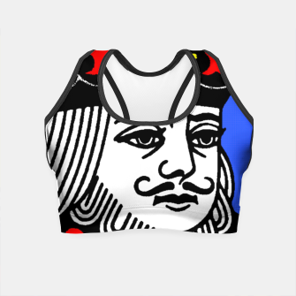KING OF SPADES COLOURS Crop Top Bild der Miniatur