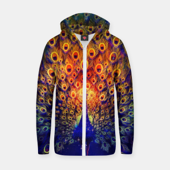 Miniatur Abstract Peacock Zip up hoodie, Live Heroes