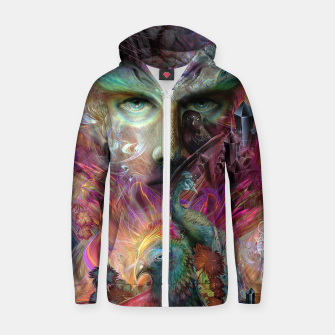 Thumbnail image of Shapeshifter Zip up hoodie, Live Heroes