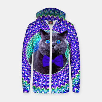 Thumbnail image of Crazy Cat Zip up hoodie, Live Heroes