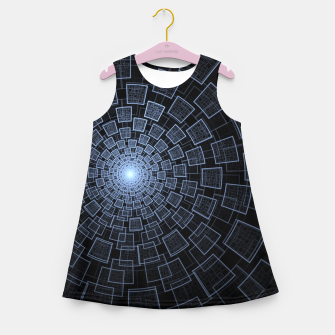 Sacred Geometry Girl's summer dress Bild der Miniatur