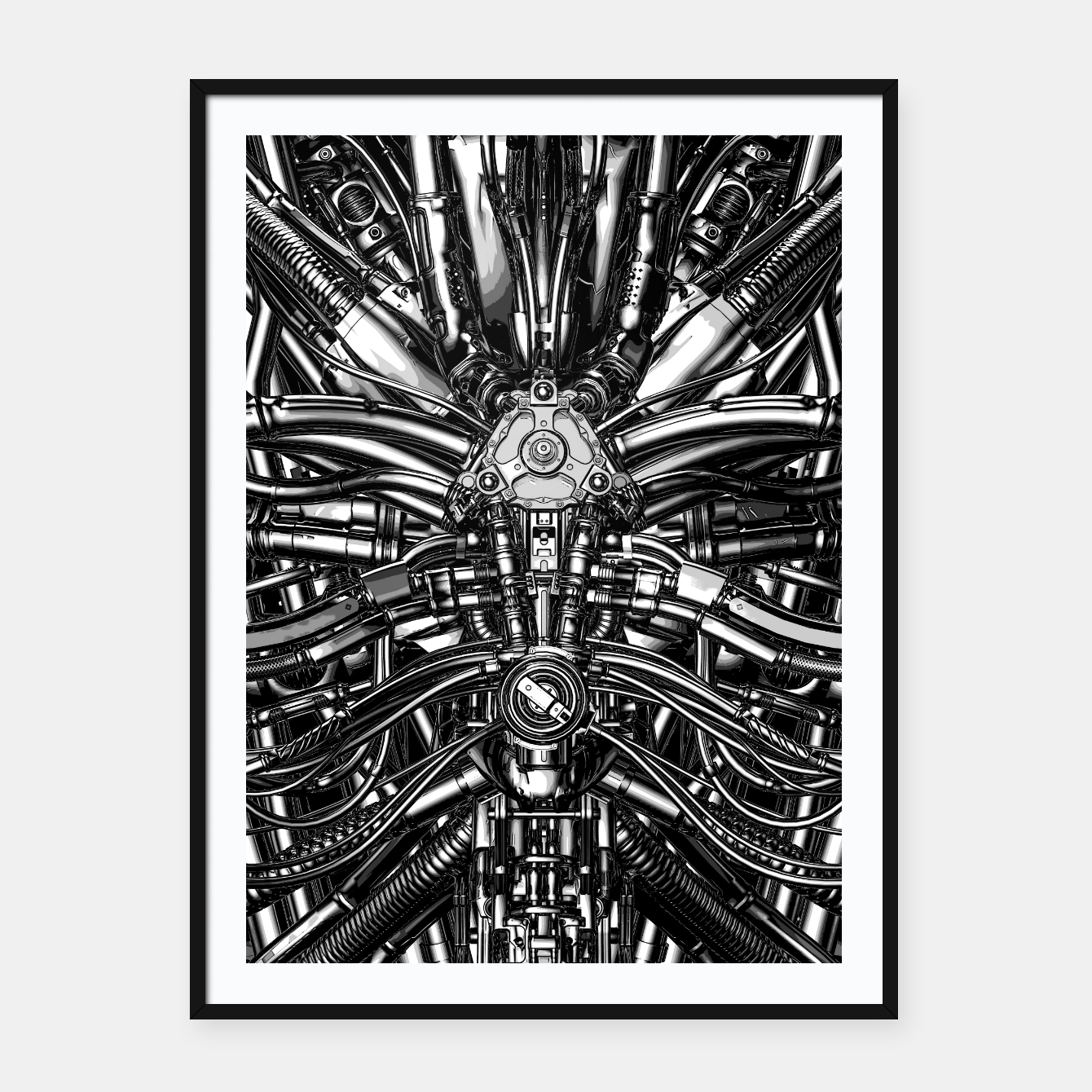 Image of The Machine Framed poster - Live Heroes