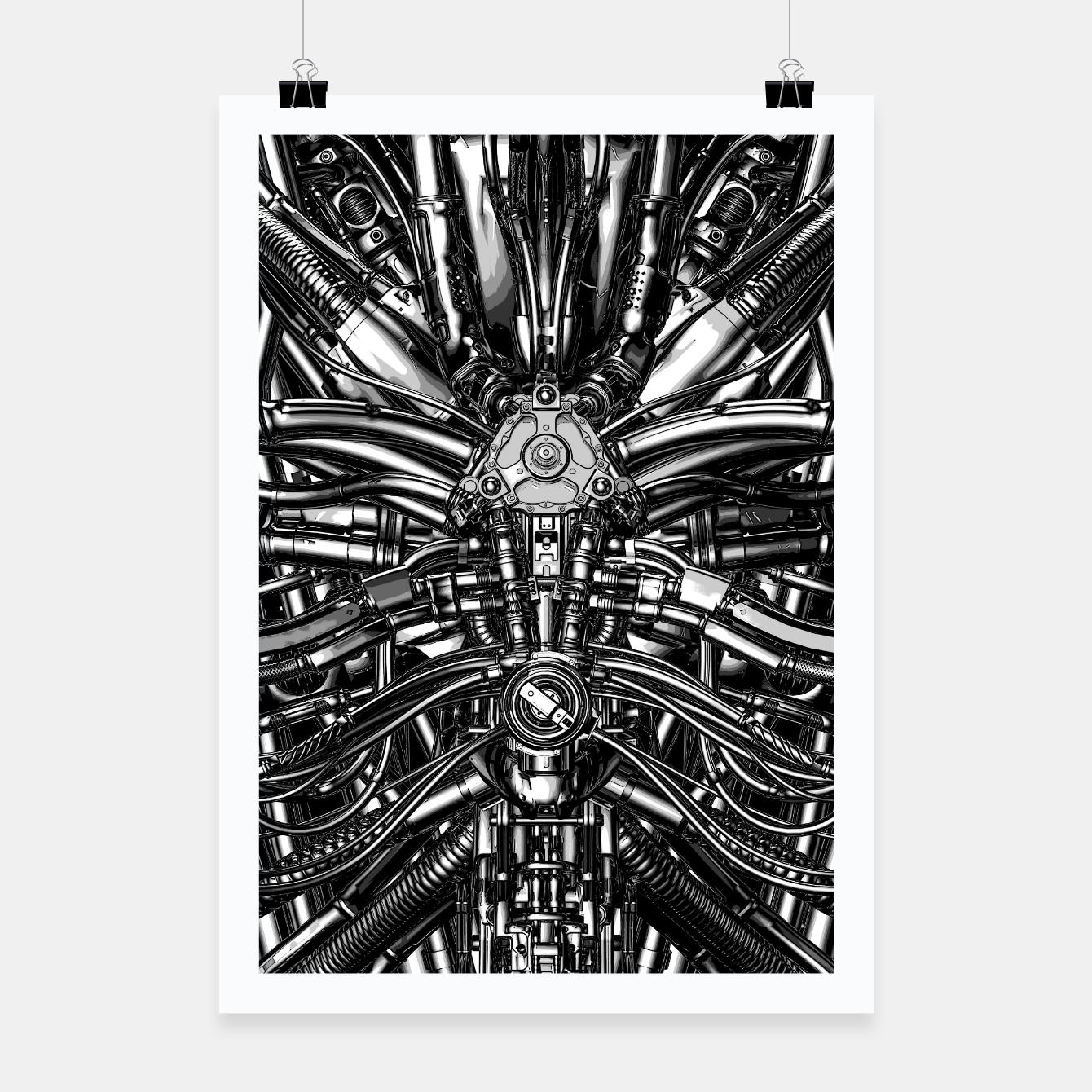 Image of The Machine Poster - Live Heroes