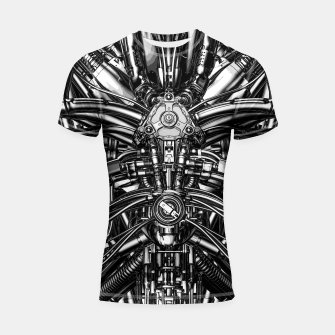 Miniatur The Machine Shortsleeve rashguard, Live Heroes
