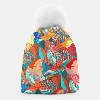 Miniaturka Tropical floral pattern popcolor Beanie, Live Heroes