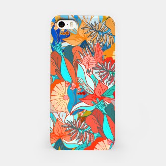 Miniaturka Tropical floral pattern popcolor iPhone Case, Live Heroes