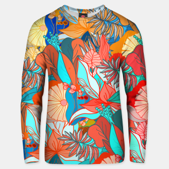 Miniaturka Tropical floral pattern popcolor Unisex sweater, Live Heroes
