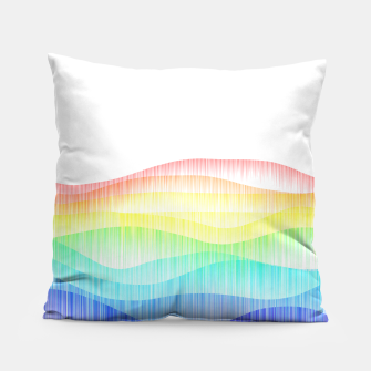Thumbnail image of Rainbow love colourful minimal Pillow, Live Heroes