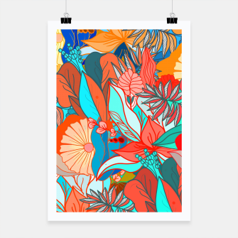 Miniaturka Tropical floral pattern popcolor Poster, Live Heroes
