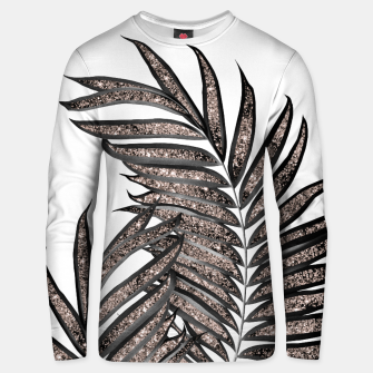 Thumbnail image of Gray Black Palm Leaves with Rose Gold Glitter #3 #tropical #decor #art  Unisex sweatshirt, Live Heroes