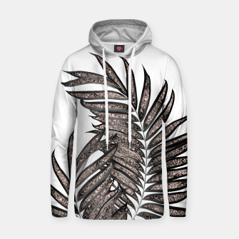 Thumbnail image of Gray Black Palm Leaves with Rose Gold Glitter #3 #tropical #decor #art  Kapuzenpullover, Live Heroes