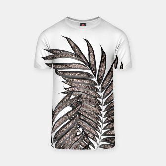 Thumbnail image of Gray Black Palm Leaves with Rose Gold Glitter #3 #tropical #decor #art  T-Shirt, Live Heroes