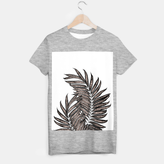 Thumbnail image of Gray Black Palm Leaves with Rose Gold Glitter #3 #tropical #decor #art  T-Shirt regulär, Live Heroes