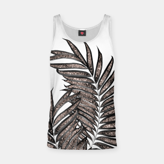 Thumbnail image of Gray Black Palm Leaves with Rose Gold Glitter #3 #tropical #decor #art  Muskelshirt , Live Heroes