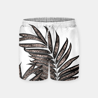 Thumbnail image of Gray Black Palm Leaves with Rose Gold Glitter #3 #tropical #decor #art  Badeshorts, Live Heroes