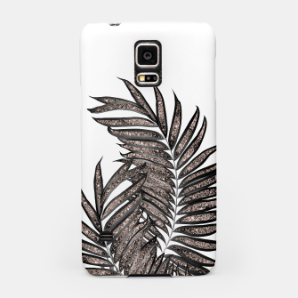 Thumbnail image of Gray Black Palm Leaves with Rose Gold Glitter #3 #tropical #decor #art  Handyhülle für Samsung, Live Heroes