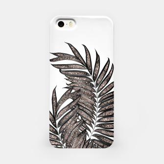Thumbnail image of Gray Black Palm Leaves with Rose Gold Glitter #3 #tropical #decor #art  iPhone-Hülle, Live Heroes