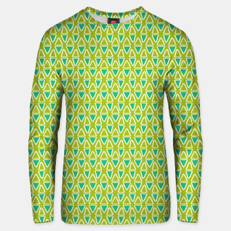 Thumbnail image of Doodle Triangles - Green/Blue Unisex sweater, Live Heroes