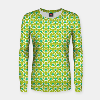 Thumbnail image of Doodle Triangles - Green/Blue Women sweater, Live Heroes