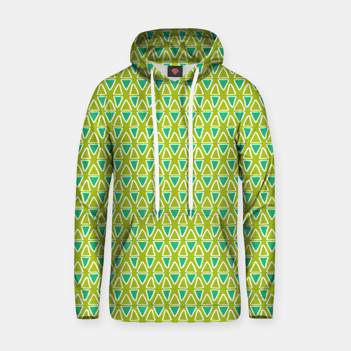 Image of Doodle Triangles - Green/Blue Hoodie - Live Heroes
