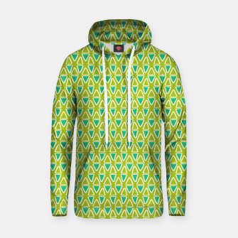 Doodle Triangles - Green/Blue Hoodie thumbnail image