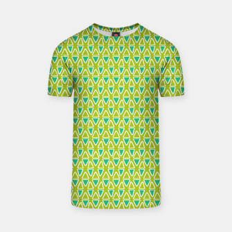 Doodle Triangles - Green/Blue T-shirt thumbnail image