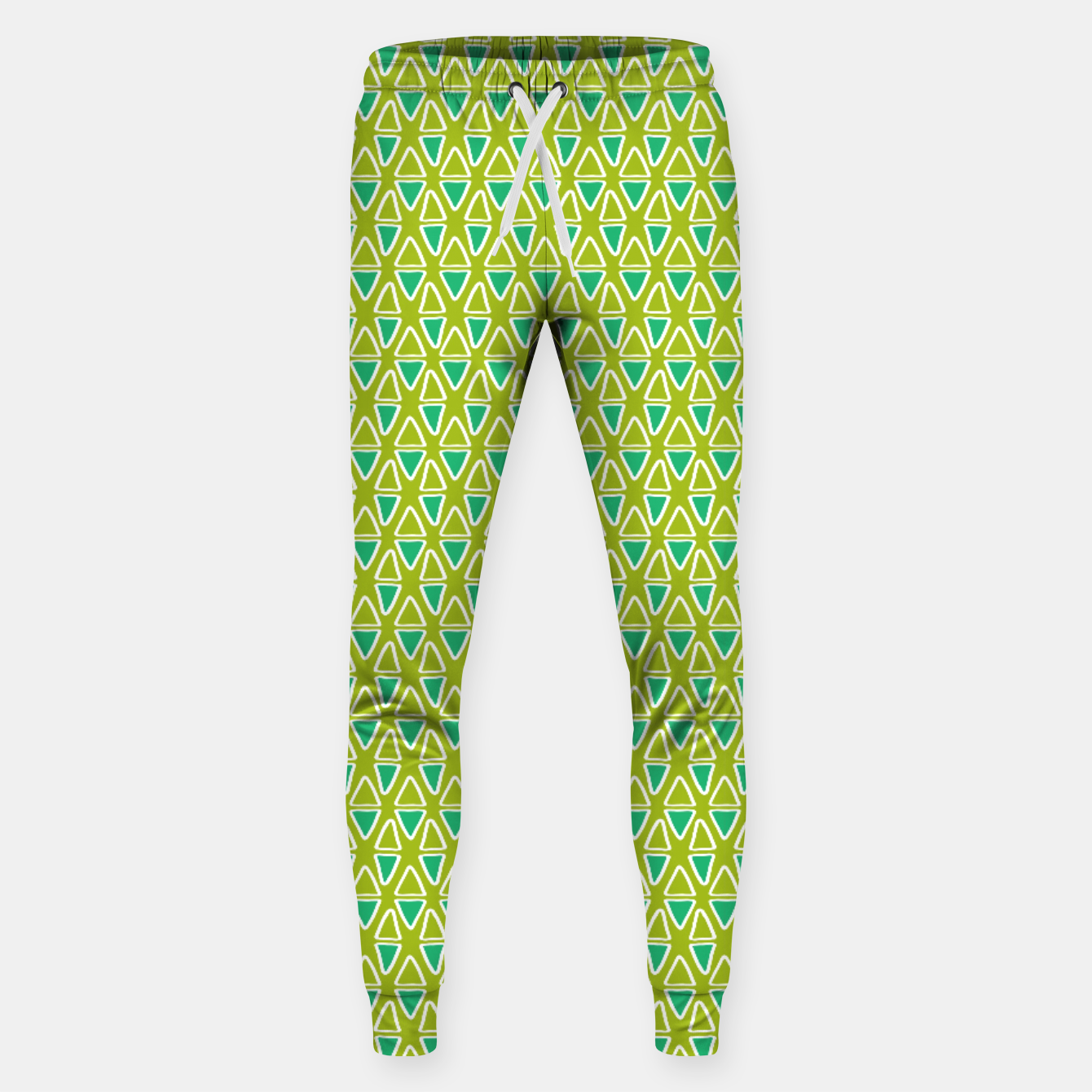 Image of Doodle Triangles - Green/Blue Sweatpants - Live Heroes