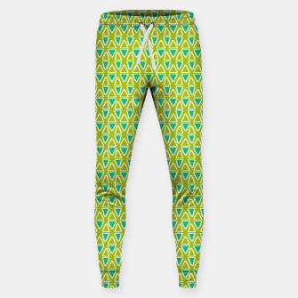 Doodle Triangles - Green/Blue Sweatpants thumbnail image