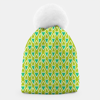 Doodle Triangles - Green/Blue Beanie thumbnail image
