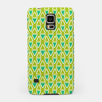 Doodle Triangles - Green/Blue Samsung Case thumbnail image